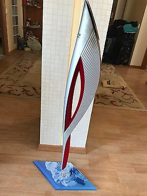 Sochi Olympic TORCH 2014 with stand, Official from Russia, Good price, Rare item