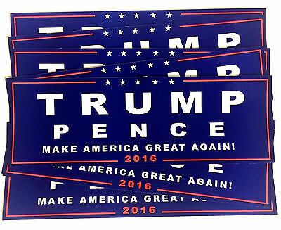 10 PCS Donald TRUMP PENCE President Make America Great Again! Bumper Sticker GB