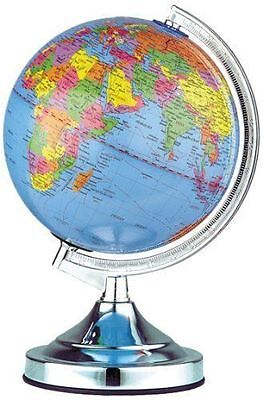 Desk Rotating World Globe Lamp Table Reading Lamps Kids School Study World Map