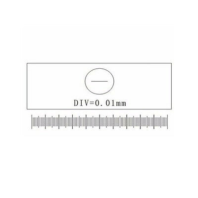 DIV=0.01mm Stage Graticules Microscope Stage Micrometer Calibration Ruler Slide
