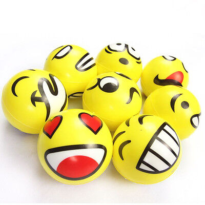 Emoji Emotion Smiley Face Anti Stress Reliever Ball ADHD Autism Mood Toy Squeeze
