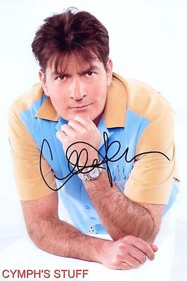 Charlie Sheen Signed Autograph Reprint #1 Two And A Half Men