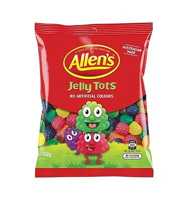 Allens Jelly Tots 160g x 12