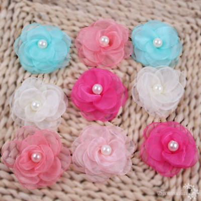5PC Organza Artificial Flowers DIY Tulle Roll Tutu Dress Wedding Gift Wrap Decor
