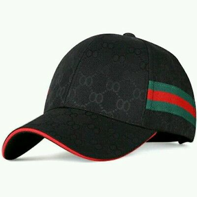 Beige,Gray,Black with Gucci look stripe cap Very fashionable headware
