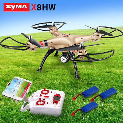 WIFI Camera Radio/Remote RC Drone Syma X8HW 2.4G 6Axis Quadcopter Outdoor TETSED