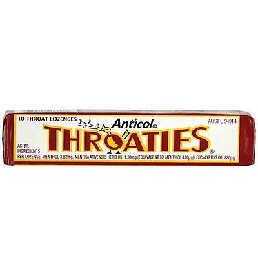 Anticol Throaties Stick x 36