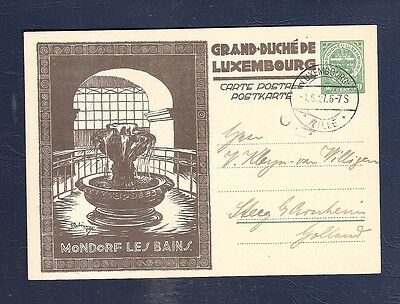 86 Luxembourg Illustrated Stationery Postal Card  P84 Mondorf Les Bains