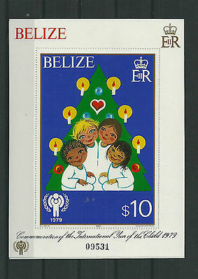 Belize 1979 Year Of The Child Sheet Pristine Mnh