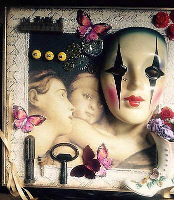 Assemblage Art Mixed Media Collage Altered Art Mother & Daughters