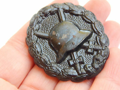Original German Black Wounded Soldier Badge Pin WW1