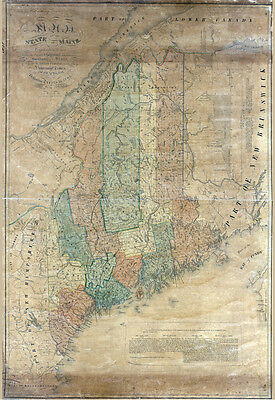 1840 Map of the state of Maine