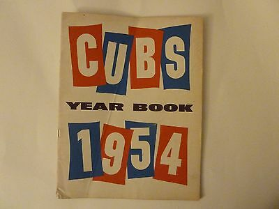 1954 Chicago Cubs  Baseball Yearbook