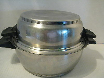 Vintage Renaware  18-8 Stainless Steel 3 QT. 3 Ply. Dutch Oven With Dome Lid