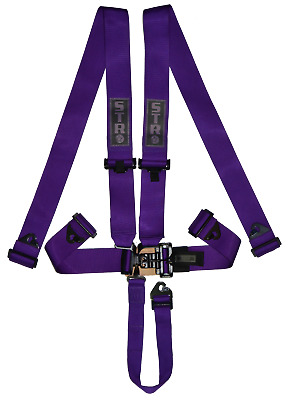STR 5 Point Racing Safety Harness Seat Belt Nascar Buckle SFI Approved F2 PURPLE