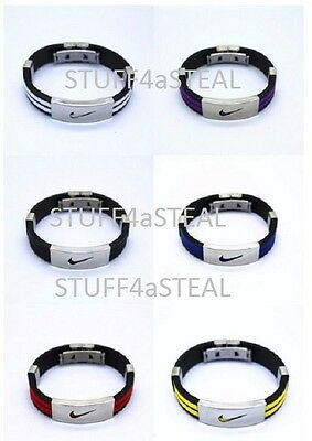 Nike Sports Baller Band Metal Silicone Rubber bracelet wristbands Free Shipping