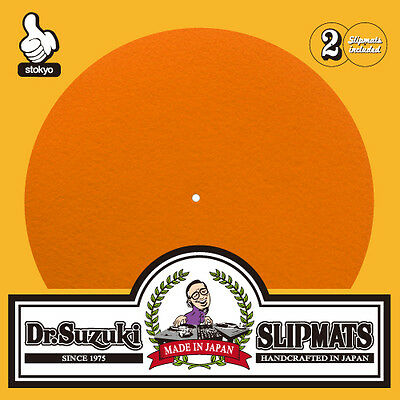 Dr Suzuki Mix Edition Slipmats Pair in Orange Ultimate DJ Slipmat
