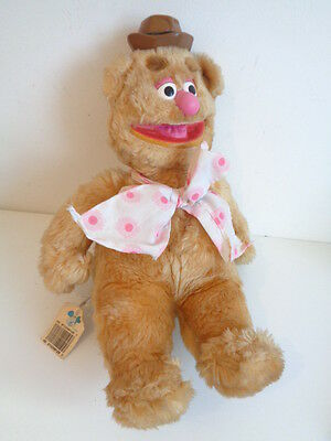 "The Muppets - Vintage 12"" Fozzie Bear Soft Toy + Disney Tag"