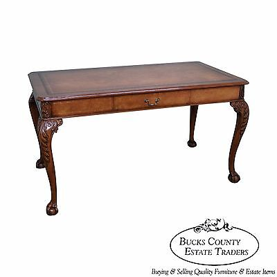 Ardley Hall Leather Top Chippendale Style Writing Desk