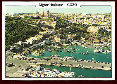 (48232) Aerial View of Mgarr Harbour, Gozo. Malta Click! Postcard