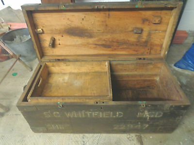 Shipwright vintage(1930s) large wooden tool box