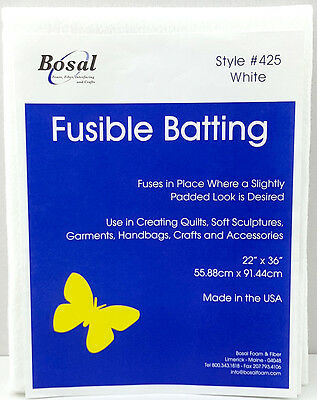 NEW | Bosal 3503-03 | Polyester Fusible Batting | 55.9 x 91.4cm | FREE POST