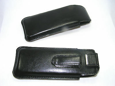 plug-ins - glasses cases made of black Synthetic leather with Clip to fit,