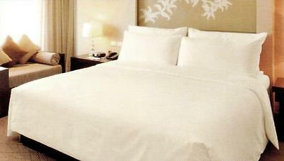 "King Size 16"" Extra Deep Fitted Sheet 100% Cotton Sateen 400 TC Light Cream"