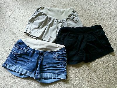 Lot of 3 Maternity Shorts Secret Belly Fit Size S/M