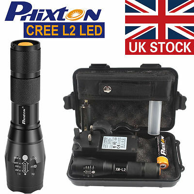 UK X800 Shadowhawk 6000LM Zoomable XML T6 LED Tactical Flashlight +18650 Battery