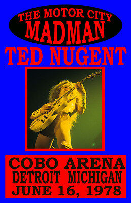 Ted Nugent Replica Motor City Madman Concert Poster