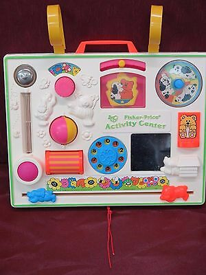 Fisher-Price Vintage 1984 Crib Activity Center Busy Toy
