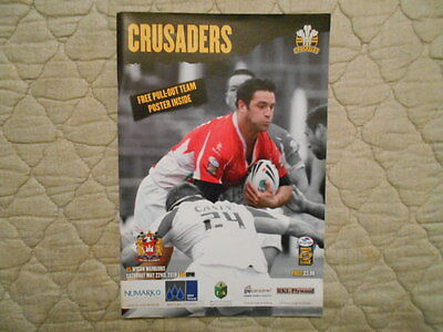 Crusaders V Wigan Warriors Super League Match Programme 2010