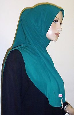 One Piece Hijab Scarf Easy Slip On Perfect as Full Underscarf Ninja Forest Green