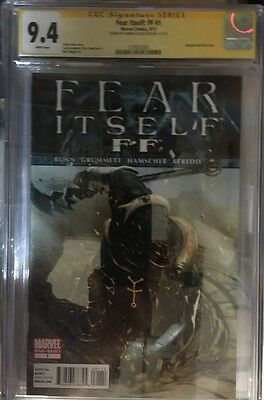 Fear Itself : Ff #1 Cgc Ss 9.4 Signed By Gabrielle Dell Otto Cover 1 Shot Rare