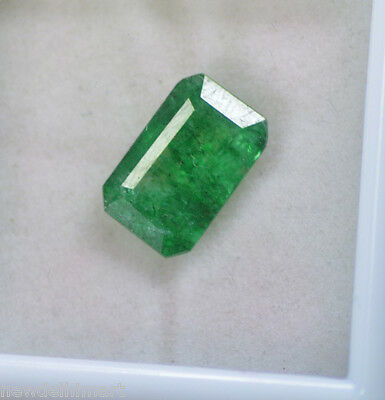 Admirable 5.00 Ct Natural Emerald Shape Certified Green Emerald Loose Gemstone~
