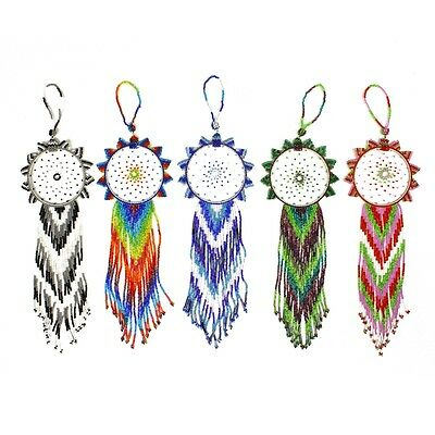 OR211 Bangle Style 4 inch Dream Catcher Glass Crystal Beaded Ornament Fair Trade