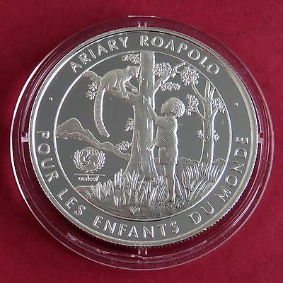 Madagascar 1998 Unicef 20 Ariary Silver Proof