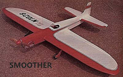 """Model Airplane Plans (UC): Smoother 54½"""" Stunt .29-.35 based on Smoothie/Nobler"""