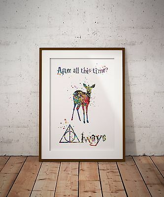 After all this time, Always Harry Potter Quotes Art Print Wall Decor