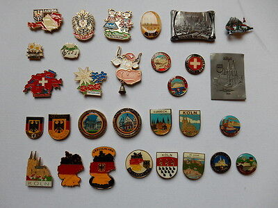 One Selected Metal Souvenir Fridge Magnet from Austria Germany Switzerland