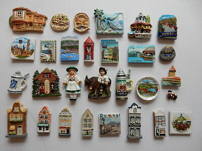 One Selected 3D Souvenir Fridge Magnet from Europe
