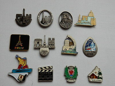 One Selected Metal Souvenir Fridge Magnet from France