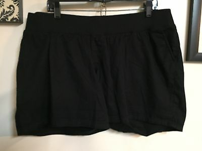 NWT LIZ LANGE Maternity Black Under The Belly Shorts Size Large L 12/14