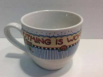 MARY ENGELBREIT Coffee Tea Cup Nothing Is Worth More Than This Day Collectible