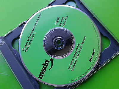 MSDN Microsoft Windows XP Professional Checked Build Release 1 0948 Disc