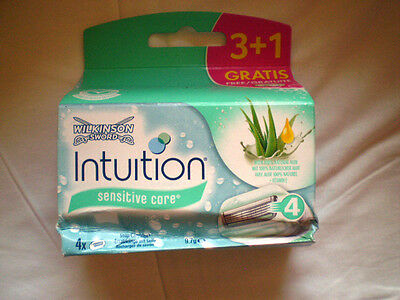 WILKINSON SWORD - Intuition sensitive care Ersatzklingen 4 Stück + Seife / Neu
