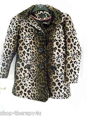 NEXT FOR GIRLS - gorgeous leopard print COAT JACKET 9-10 YEARS - worn once