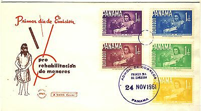 1951 Panama Cachet  FDC with complete set of 5 stamps