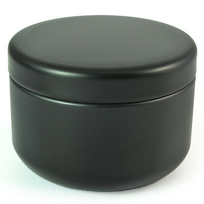 Tea Caddy - Small Black Loose Leaf Teas Petit Can Travel Container